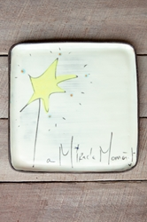 A Miracle Moment Square Plate (Small/Large)