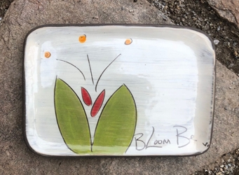 Bloom Be Rectangle Plate (in 5 blooming colors!)