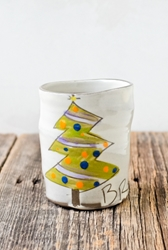 Christmas Tree Cup (blue or purple garland)