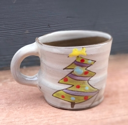 Christmas Tree Mug (blue or purple garland)