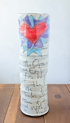 Friendship Poem Tall Vase
