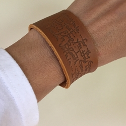 """Gratitude"" Poem Leather Bracelet"