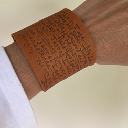 """Just As I Am"" Poem Leather  Bracelet"
