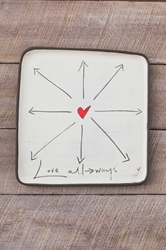 Love All Ways Square Plate (Small/Large)