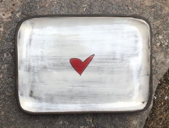 Love (heart) Rectangle Plate