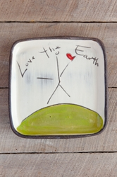 Love the Earth Square Plate (Small/Large)