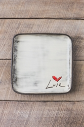 Love (word) Square Plate (Small/Large)