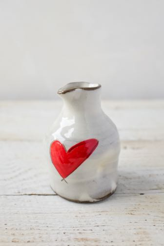 Mini Pitcher with a Heart