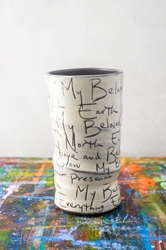 My Beloved Poem Round Vase