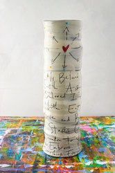 My Beloved Poem Tall Vase