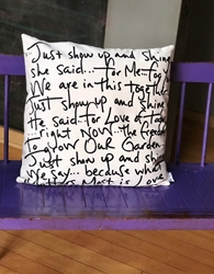 "Show Up and Shine Pillow (18""/22"")"